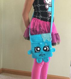 Shopkins inspired crochet cool cube purse