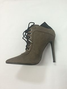 Shoe Republic Lace Up Pointy Toe Bootie, Ankle Boots
