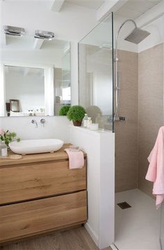Bathroom with shower cabin - . - cabin - Badezimmer mit Duschkabine – – Bathroom with shower cabin – … – cabin Bathroom Renos, Laundry In Bathroom, Bathroom Layout, Bathroom Interior Design, Remodel Bathroom, Shower Bathroom, Budget Bathroom, Shower Door, Basement Bathroom