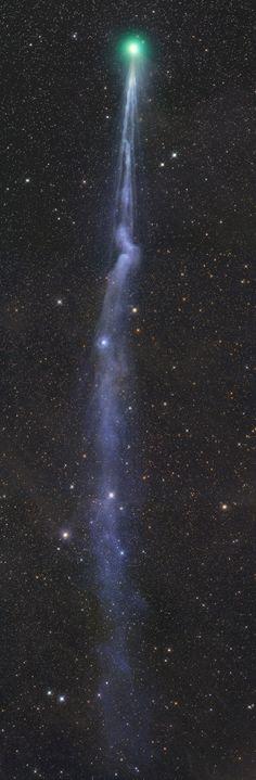 Comet C/2014Q2 Lovejoy Great view beautiful tail.  Image Credit: Gerald Rhemann on January 21, 2015 @ Puchenstuben, Lower Austria