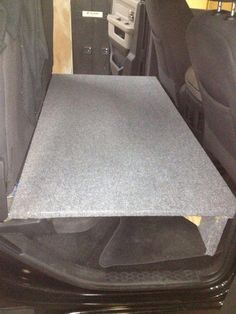 Dog seat / bed in back of truck. Rear seats folded up and built a platform for out lab to be comfortable. Dog Car Accessories, Camping Accessories, Tacoma Accessories, Barbie Accessories, Back Seat, Rear Seat, Backseat Bed, Horizontal Murphy Bed, Modern Murphy Beds