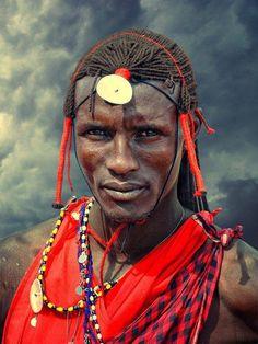 Maasai man in Maasai Mara, Kenya