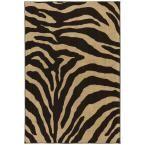 Mohawk Home Zebra Safari Black 8 ft. x 10 ft. Area Rug - 319946 - The Home Depot