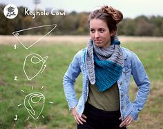 Keyhole Cowl by A la Sascha #crochet #pattern