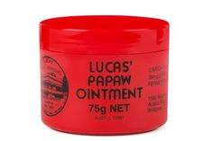 Lucas' Papaw Ointment Dr. Thomas Pennington Lucas, a Scottish native who moved to Australia in 1876, created this cult-status salve while working at the Vera Papaw Hospital in Brisbane. The shockingly simple formula only contains three natural ingredients: fresh fermented carica papaya; pharmaceutical-grade petroleum jelly and wax; and gum balsam peru (to give it a slight scent). The antibacterial and antimicrobial properties of the fruit acids not only help nix a zit fast