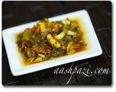torshi liteh recipe, tursu, pickled vegetables
