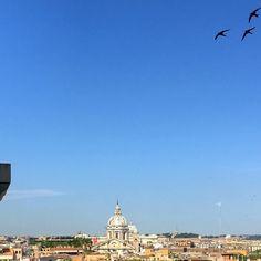 #roma #rome #naturelovers #nature #architecture #cityphotography #summertime #summer #sunshine #sunlight #birds #textures #view #scene #minimal #minimalism #minimalist #bluesky #sunshine