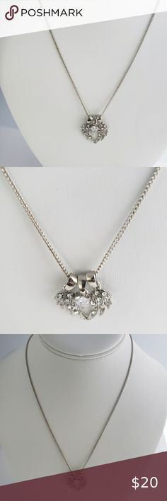 Latest Special Design 3 Ways To Wear  925 Silver Crystal  Angel Wing Necklace