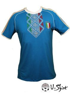 dbbaa9bdfc1 Exclusive EURO 2012 t-shirt ITALY with Ukrainian Embroidery