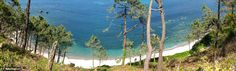 El Barco beach in the Torbas Cove, in Asturias, Spain - actually, a lot of beaches of Asturias will look like this in your memory.... you will remember walking in the woods, being surrounded by the smell of the forest, hearing the ocean, feeling the breeze and...seeing this...