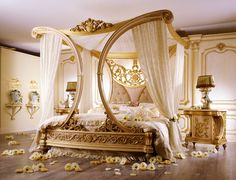 French inspired canopy bedroom set... looks like a bra and g-string...