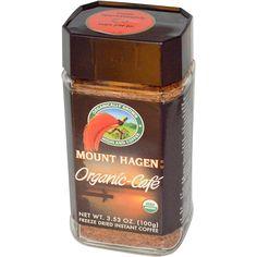 Mount Hagen, Organic-Cafe, Freeze Dried Instant Coffee, 3.53 oz (100 g) - iHerb.com