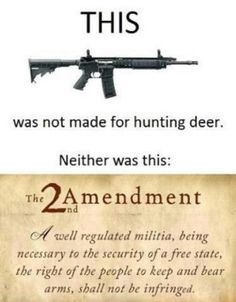 2nd amendment ~ Oh, how it is misunderstood.