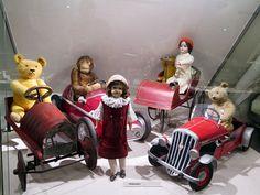 teddy bears and dolls in Nuremberg toy museum