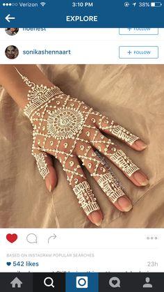 White henna is very pretty