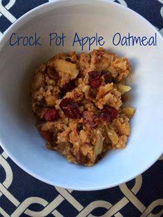 B in a Nutshell: {Crock Pot} Apple Oatmeal