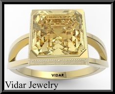 Engagement RingYellow Engagement RingCitrine by Vidarjewelry, $890.00