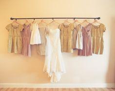 Ombre Austin Wedding- love the mismatch bridesmaid dresses