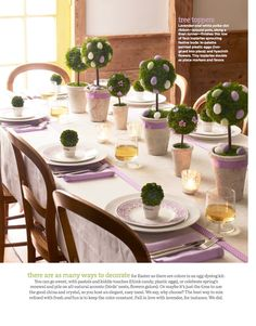 Easter table setting, really cute!