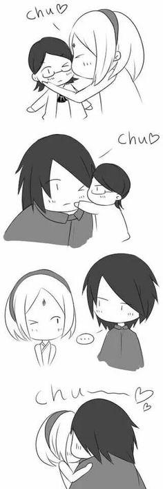Juego de besos familia ichiha