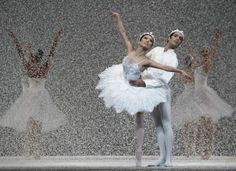"""The Queen and King of the Snow (Frances Chung and Jaime Garcia Castilla) dance in the San Francisco Ballet's annual """"Nutcracker"""" production...."""
