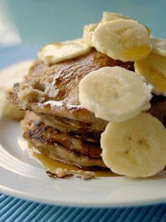 Healthy pancake recipe self raising flour baking powder 1 egg beaten milk 1 small banana well mashed Smooth Peanut Butter Gluten Free Recipes For Breakfast, Gluten Free Breakfasts, Snack Recipes, Cooking Recipes, Healthy Recipes, Pancake Recipes, Healthy Food, Healthy Eating, Snacks