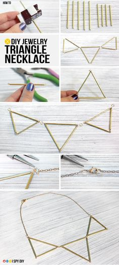I Spy DIY: MY DIY | Triangle Necklace