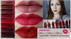 essence NEUHEIT♡ Matt matt matt Lippenstift Review & Lip Swatches