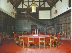 The Conference hall at Cecilienhof Palace, site of the 1945 Potsdam Conference to determine the spheres of influence in post-war Europe.