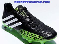 sports shoes fca04 08326 Botas de Futbol Adidas Predator LZ negra-verde-blanca