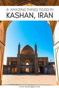 9 Amazing things to do in Kashan! Explore Kashan's Bazaar, admire the city from a rooftop, visit Kashan's most beautiful mosque and much much more. Beautiful Places To Visit, Cool Places To Visit, Travel Guides, Travel Tips, Travel Destinations, Qatar Travel, Visit Iran, Jordan Travel, Beautiful Mosques