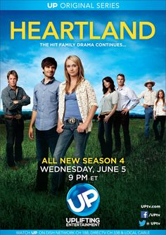 "Watch exclusive and romantic movies every day, and premiere movies Sundays at 7 PM ET. Watch popular TV shows like ""Bringing Up Bates"" and ""Reba"" on UPtv. Heartland Season 4, Watch Heartland, Heartland Tv Show, Family Tv, Romantic Movies, Favorite Tv Shows, Movies And Tv Shows, Movie Tv, Tv Series"