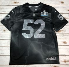 f11d54ee1e2a70 Nike Super Bowl 52 Limited Edition Jersey Black Silver Men s Size XL  170  NWT
