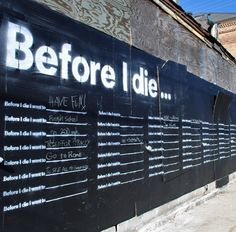 Community art - before i die i want to...