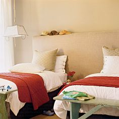 ADD A COLOURED COMFORTER TO A BLANK ROOM & SUDDENLY THE ROOM IS THAT COLOUR!  Colors and bold prints aren't the only way to spice up your pad. Use textures, like the woven sea-grass rug, and structural forms, like the chairs and stool, to create visual interest―and extra seating. A basket is a budget-friendly solution when your decorating funds start to dwindle.