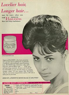 1963 Beauty Ad, Raveen Hair  Scalp Conditioner | Flickr - Photo Sharing!