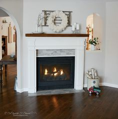 A complete gas fireplace makeover including turning it around to face a different room!