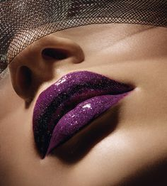 glitter lipstick and make ups | Purple Lips Picture Gallery » purple-lips-glitter
