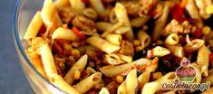 """Przepis na Sałatkę z makaronem i kurczakiem """"Danie chińskie"""" Kung Pao Chicken, Salads, Chinese, Lunch, Meat, Cooking, Ethnic Recipes, Food, Ears Of Corn"""