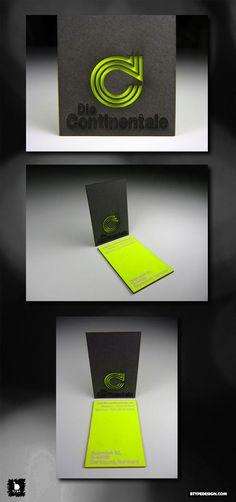 Die Continentale - Bold Neon Card Design | #Business #Card #letterpress #creative #paper #businesscard #corporate #design #visitenkarte #corporatedesign < repinned by an #advertising agency from #Hamburg / #Germany - www.BlickeDeeler.de | Follow us on www.facebook.com/Blickedeeler