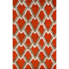 Jaipur Rugs Modern Geometric Pattern Orange Wool Area Rug NFP03 (Rectangle)