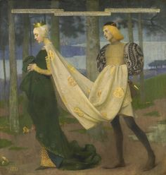 pintoras: Marianne Stokes (Austrian / English, 1855 – 1927): The Queen and the Page (via Sotheby's)