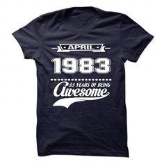 Cool April 1983 T shirts