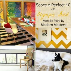 Great project ideas with Modern Masters Olympic Gold Metallic Paint \ Modern Masters Cafe blog