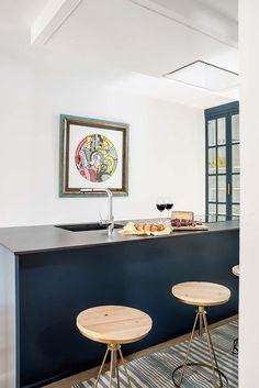 Farrow Ball, Elle Decor, Color Azul, Madrid, Table, Furniture, Home, Design, Coffee Tables