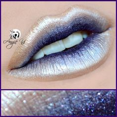 Who says pigments are just for the eyes?! Loving this idea by angiey_artstyle to use Makeup Geek's Afterglow pigment for these cool and creative lips!