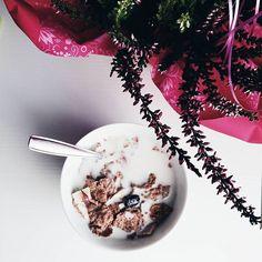 [Breakfast] ---- Oggi la colazione si fa tardi, anche se mi sono svegliata alle 6.30 del mattino. Ansia pre-esame.  #colazione #breakfast #cereali #mangiaresano #food #instafood #morning #instabreakfast