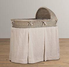 Washed Organic Linen Bassinet Bedding | Bassinet Bedding | Restoration Hardware Baby & Child