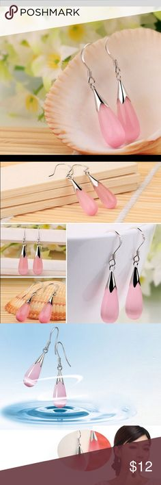 Elegant pink drop earrings Buy any jewelry (earrings/necklace) for 10 dollars and get 1 more jewelry for just 5 more dollars when you purchase in a bundle, please leave me a comment if you have any question or need help setting up the bundle Jewelry Earrings