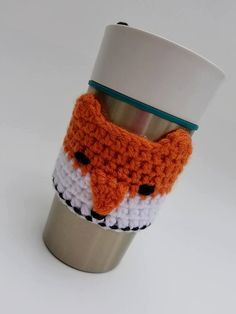 Crochet Fox Cup Cozy Crochet Cup Cozy Fox Cup Cozy by AJsCrochets